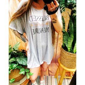Blessed soft lightweight oversized tee shirt dress